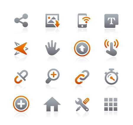Web and Mobile Icons 10 - Graphite Series Vector Illustration