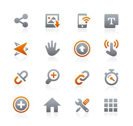 Web e mobile Icone 10 - Graphite Series Vettoriali