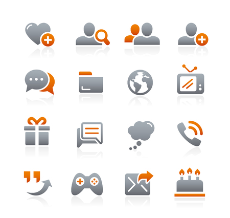 grafit: Social Communications Icons - Graphite Series