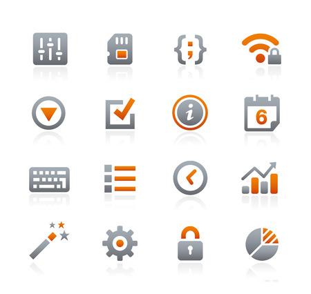 grafito: Iconos del Web y móviles 4 - Serie del grafito
