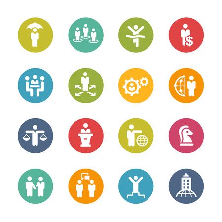 recursos humanos: Las estrategias de planificación y el éxito - Serie fresca del color
