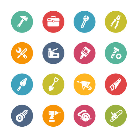 gimlet: Tools Icons - Fresh Color Series Illustration