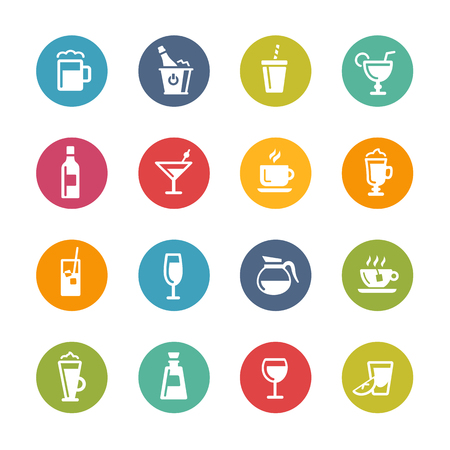 Drinks Icons - Fresh Color Series Vettoriali