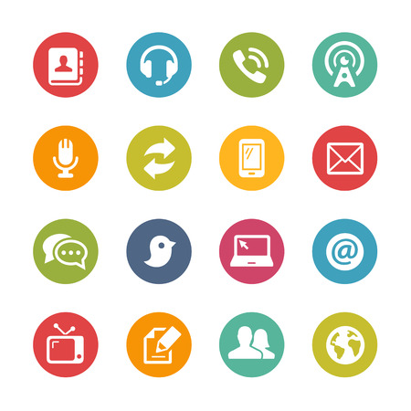 telecommunication: Telecommunications Icons - Fresh Color Series