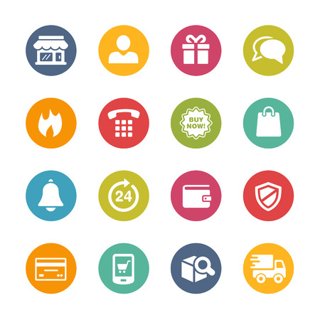 series: E-Shopping Icons - Fresh Color Series