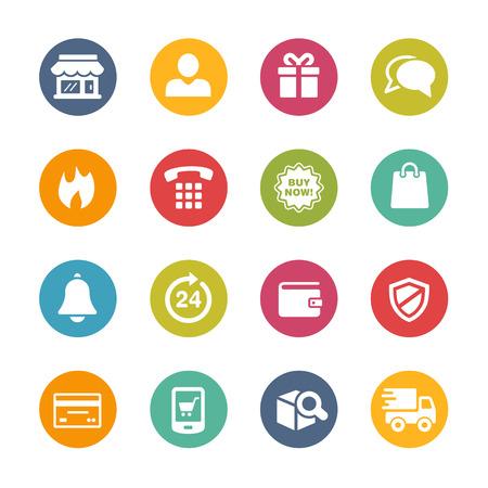 E-Shopping Icons - Fresh Color Series