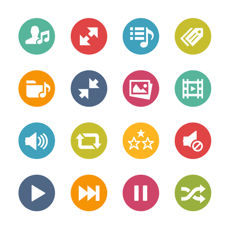 volume: Web and Mobile Icons 7 - Fresh Color Series