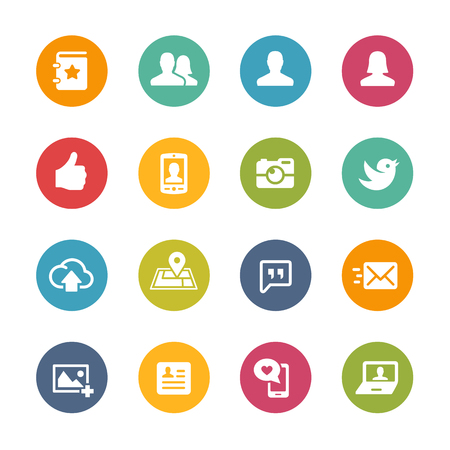 series: Social Icons - Fresh Color Series