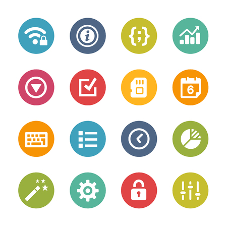 Web and Mobile Icons 4 - Fresh Color Series