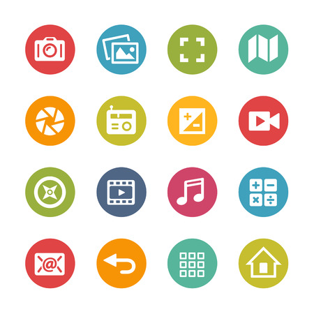 series: Web and Mobile icons 5 - Fresh Color Series