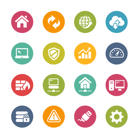 web hosting: Web Developer Icons - Fresh Color Series
