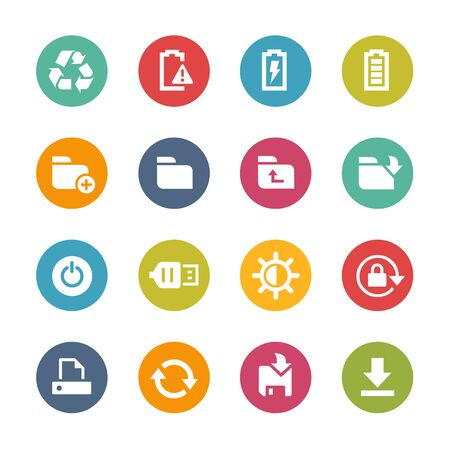 telecommunications technology: Web and Mobile Icons 3 - Fresh Color Series