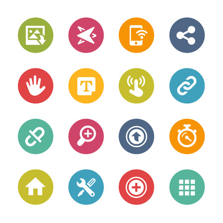 telecommunications technology: Web and Mobile Icons 10 - Fresh Color Series