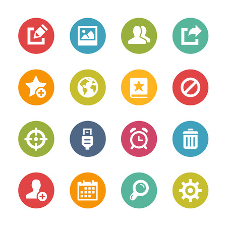 schedule system: Web and Mobile Icons 2 - Fresh Color Series