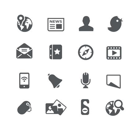 social web: Social Web Icons - Utility Series