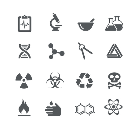 corrosive poison: Science Signs and Symbols - Utility Series Illustration