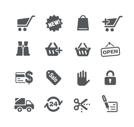 web store: Icons Web store - Utility Series Illustration