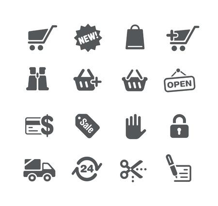 Icons Web store - Utility Series 矢量图片