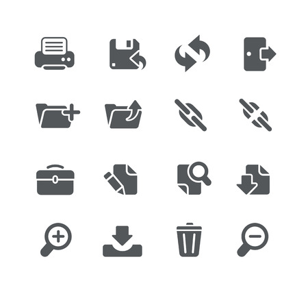 toolbar: Web and Software Development icons - Utility Series Illustration