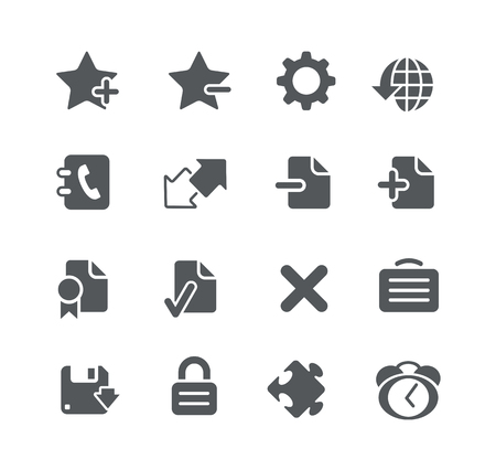 utility: Web and Software Development icons - Utility Series Illustration