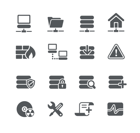 network server: Network and Server Icons - Utility Series