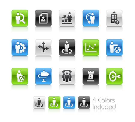 headquarter: Company Strategies - Clean Series Illustration