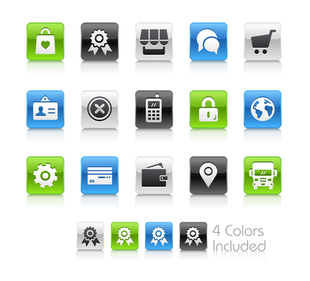 online: Online Store Icons - Clean Series