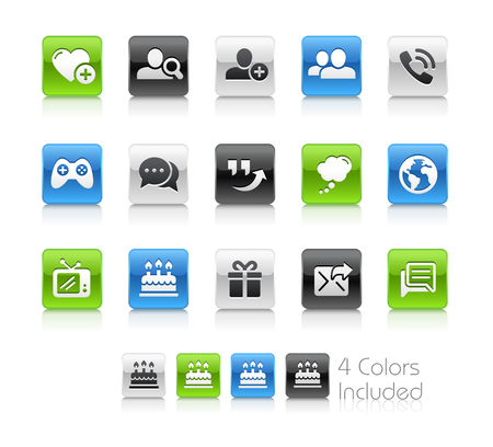 hangout: Social Communications Icons - Clean Series Illustration