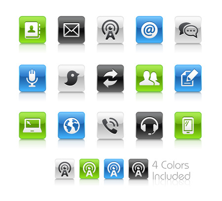 telecommunications: Telecommunications Icons - Clean Series Illustration