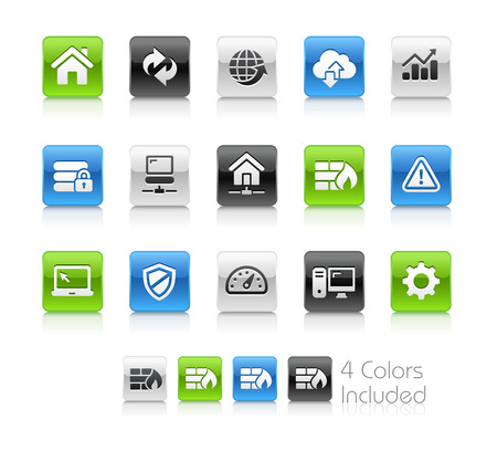 web developer: Web Developer Icons - Clean Series Illustration