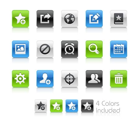 schedule system: Web and Mobile Icons 2 - Clean Series Illustration