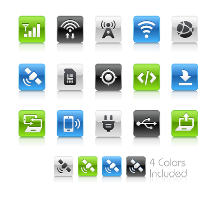netbooks: Web and Mobile Icons 6 - Clean Series Illustration