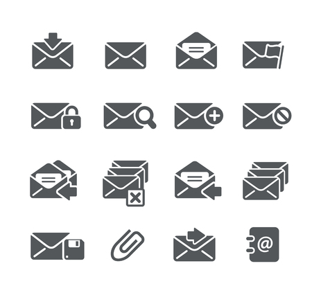 email icons: E-mail Icons - Utility Series