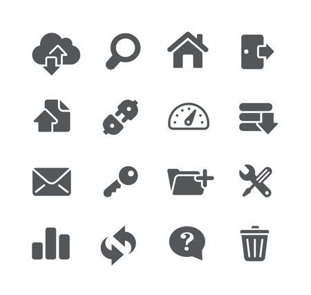 utility: FTP and Hosting Icons - Utility Series