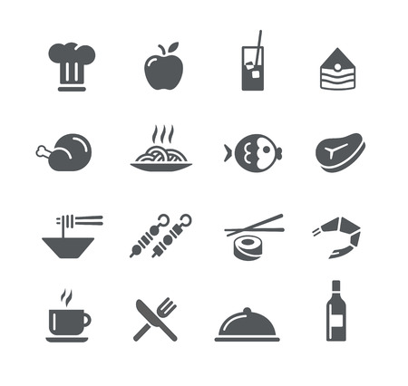 continental food: Food Icons 2 - Utility Series Illustration