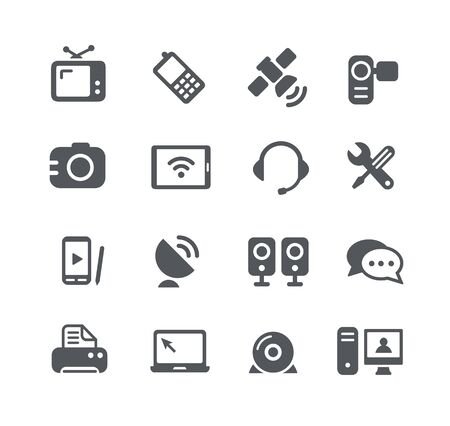 communication tools: Communication Icons - Utility Series Illustration