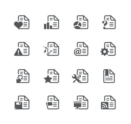 utility: Documents Icons 2 - Utility Series Illustration