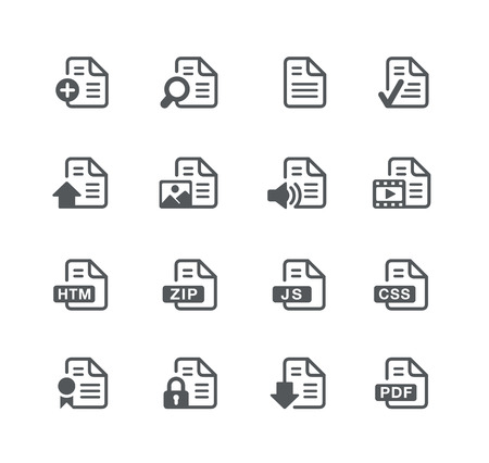utility: Documents Icons 1 - Utility Series