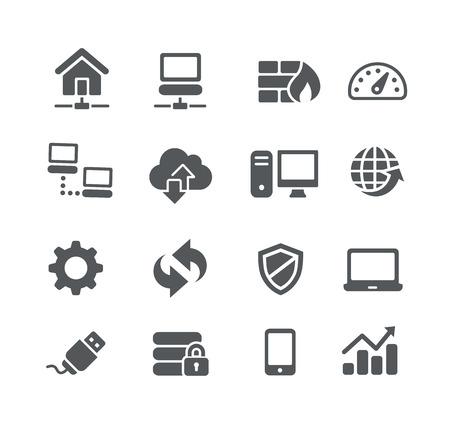 icono computadora: Los iconos de red - Utilidad de la serie