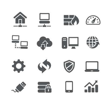 email security: Network Icons -- Utility Series Illustration