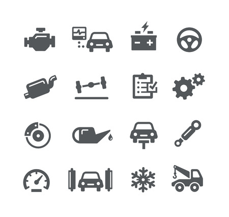 lubrication: Car Service Icons -- Utility Series
