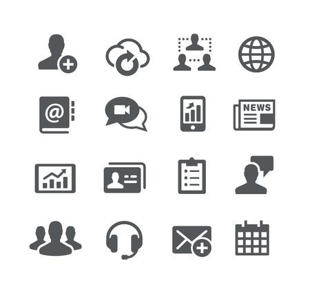通信: ビジネス通信アイコン - ユーティリティ シリーズ