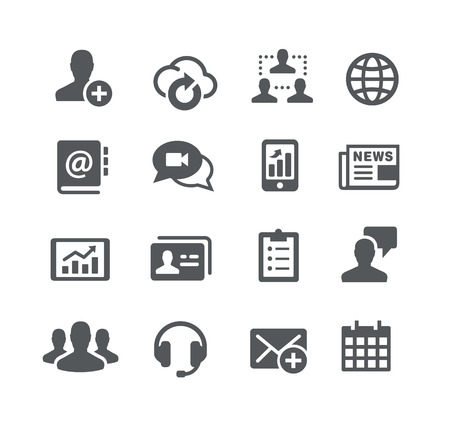 communicatie: Business Communications Icons - Utility Series