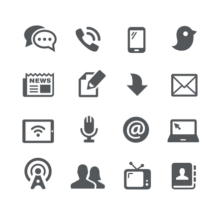 utility: Telecommunications Icons -- Utility Series