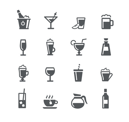 Drinks Icons - Utility Series Vectores
