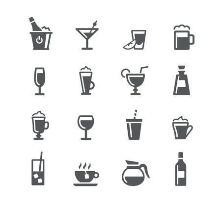 Bebidas iconos - serie de Utilidad Ilustración de vector