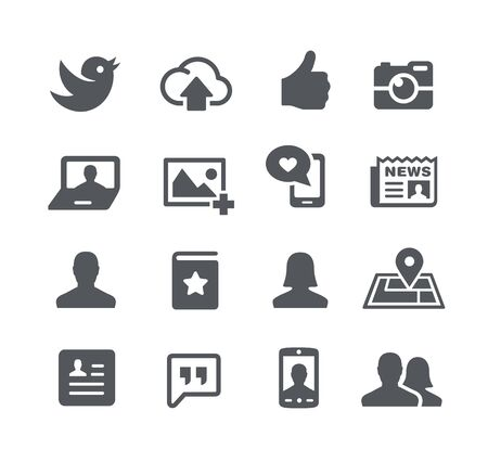 utility: Social Icons -- Utility Series Illustration