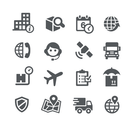 telephonist: Shipping and Tracking Icons -- Utility Series