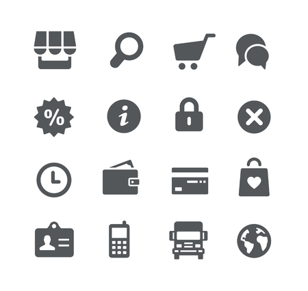 the series: Online Store Icons -- Utility Series