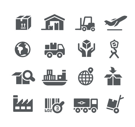 Industry and Logistics icons -- Utility Series
